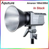 aputure amaran 100d 200d 5600k led video studio light cri95 tlci96 bluetooth app control 8 lighting effects dcac power supply