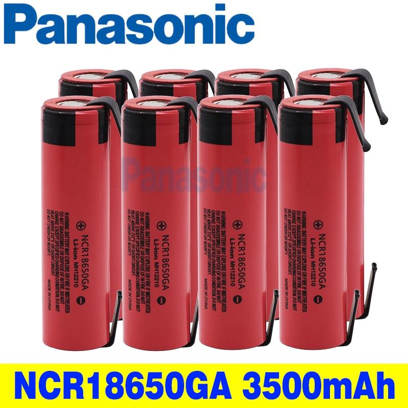 Panasonic original NCR 18650GA 30A entladung 3,7 V 3500mAh 18650 akku spielzeug taschenlampe lithium-batterie + nickel
