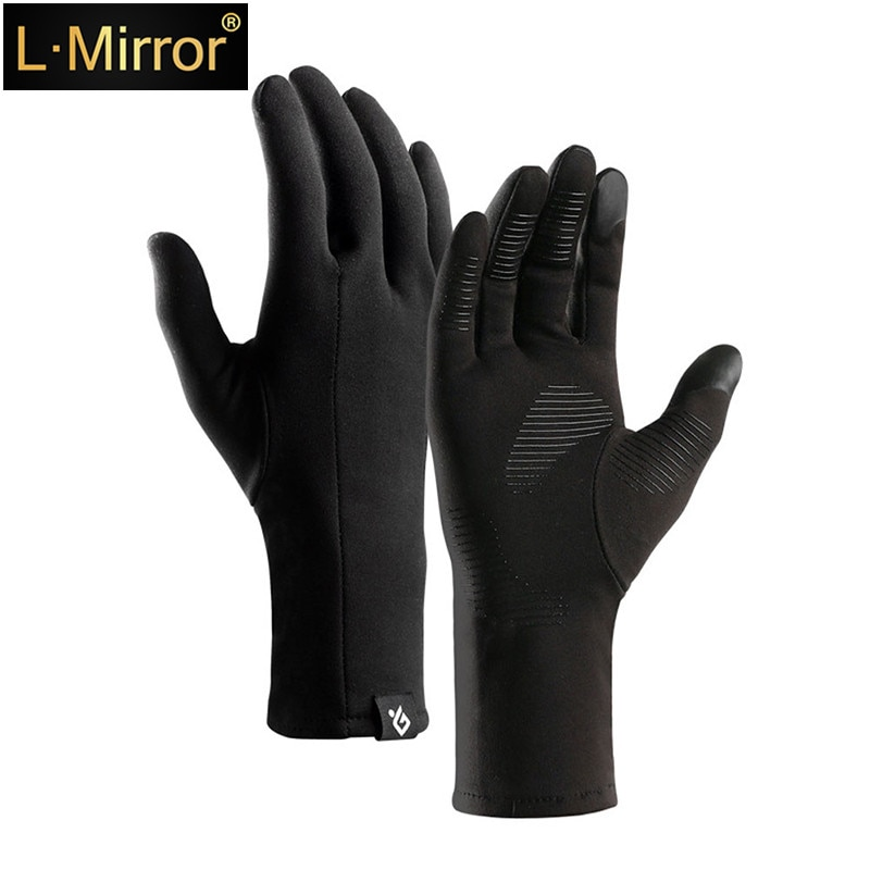 L.Mirror 1 Pair Winter Men & Women Touch Screen Gloves, Anti-slip Couple Lightweight Warm Winter Gloves happtyl 1 pair winter men