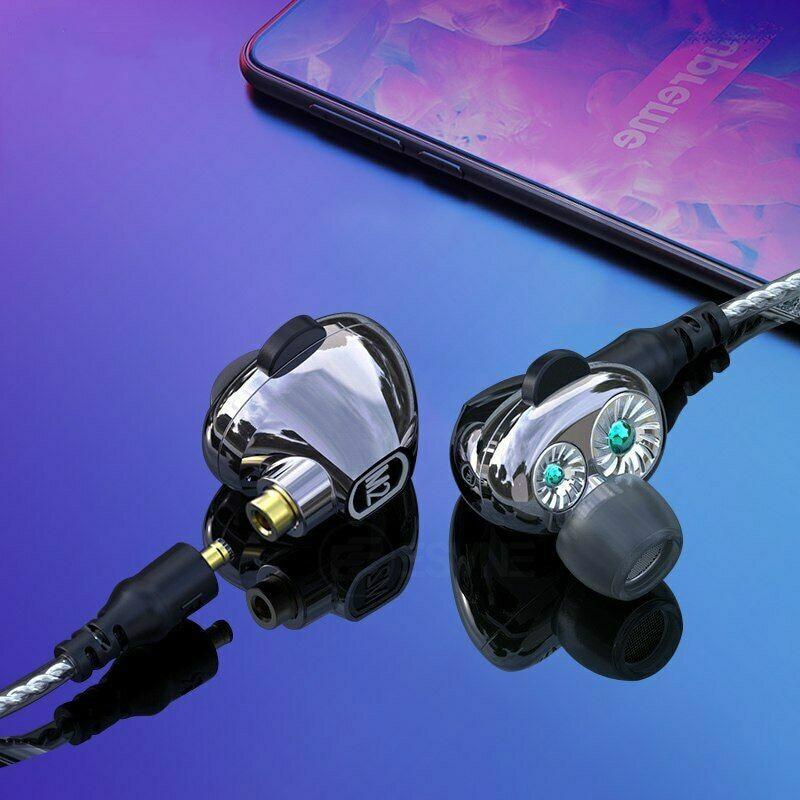M2S Dual Dynamic Earphone Bluetooth Headset Wireless Heavy Bass Stereo HD Mic Handsfree for iPhone XiaoMi Samsung