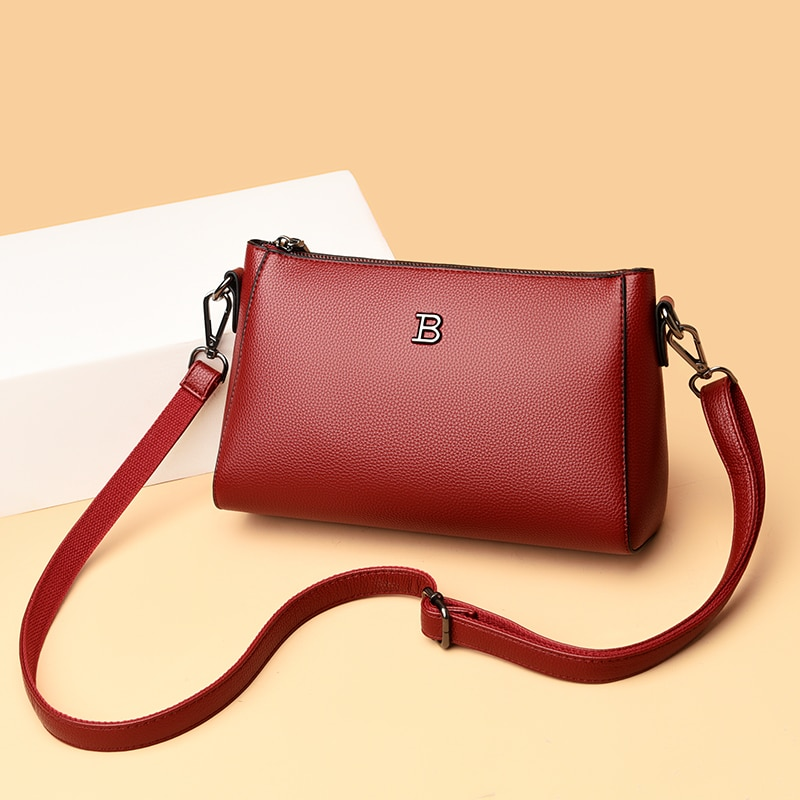 Small Purses and Handbags Women Brand Leather Shoulder Bag Casual Flap Messenger Bags Lady Solid Color Crossbody Bag Sac A Main