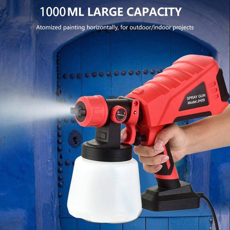2021 550 واط 1000 مللي سعة كبيرة عالية الطاقة الكهربائية بندقية رذاذ HVLP المنزلية رشاش دهان التحكم في التدفق البخاخة سهلة الرش
