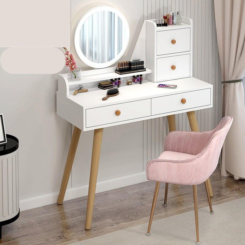 Новый скандинавский туалетный столик для спальни маленькой квартиры сетчатый красный Ins Шкаф Для Хранения Встроенный современный простой ...
