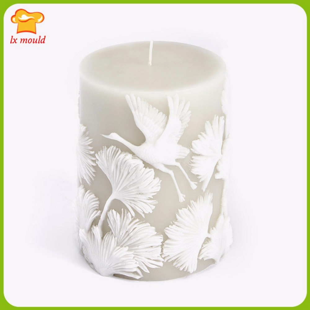 New Style Embossed Lace Candle Silicone Molds Wedding Holiday Gift Handmade Candle Tool Mould Cylindrical