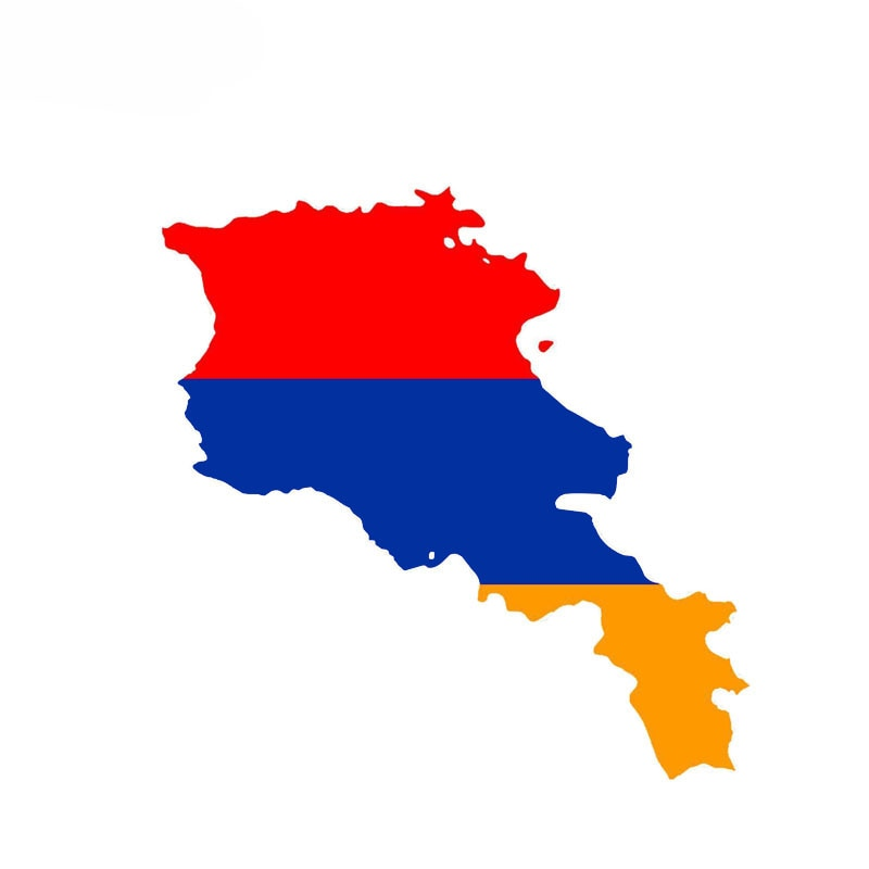 Personality Armenia Flag Car Sticker Reflective Decal Car Styling PVC Waterproof Car Decal Scratch-proof Vinyl Material Decor  - buy with discount