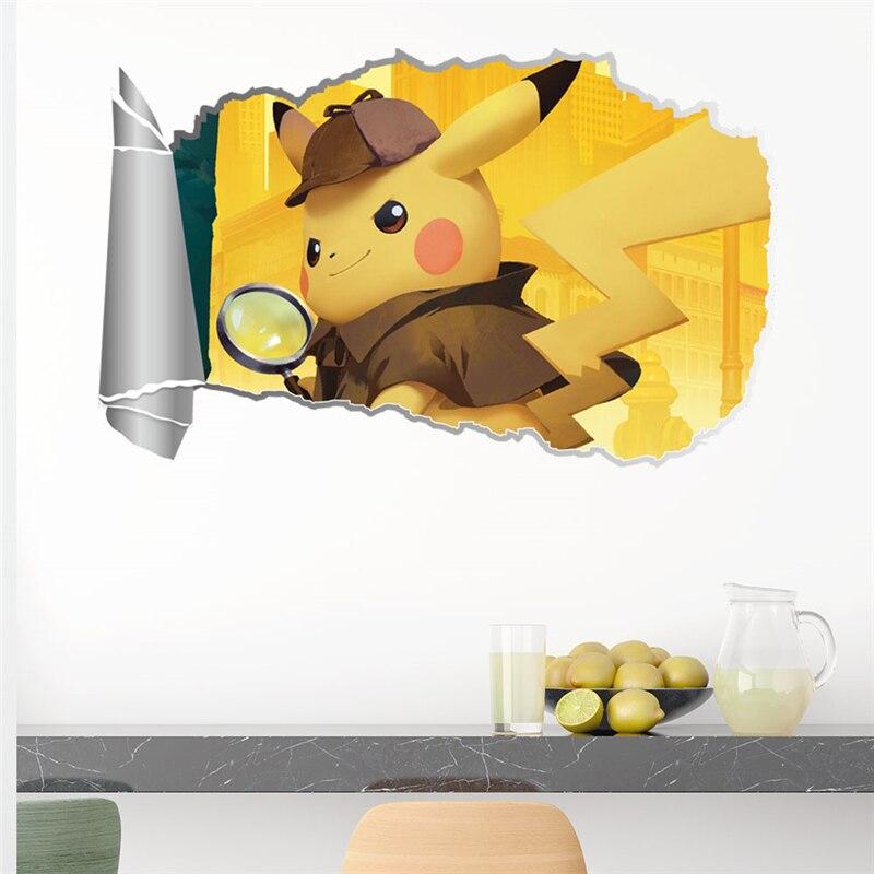 Dibujos Animados pegatina de Pikachu 3D vívida Laptop monopatín maleta guitarra pegatinas para muebles DIY juguete pegatina de pared