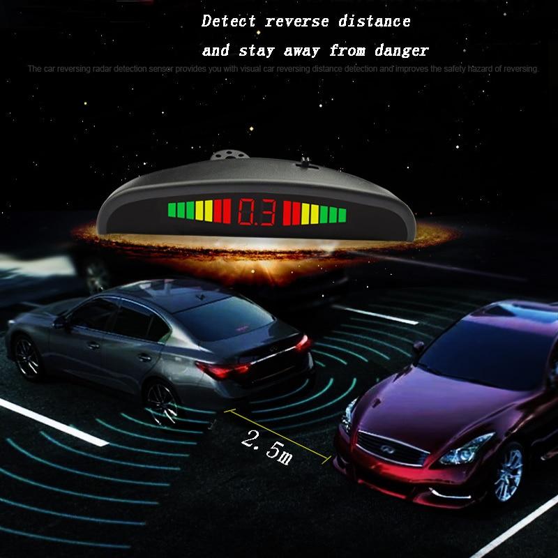 Car Auto Parktronic LED Parking Sensor With 4 Sensors Reverse Backup Radar Monitor Detector System Alarm prompt