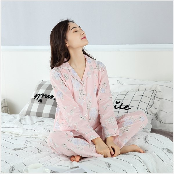Fdfklak 2 PCs/Set Printed Maternity Nursing Sleepwear Nightwear For Pregnant Women Pregnancy Breast Feeding Pajamas Suits enlarge