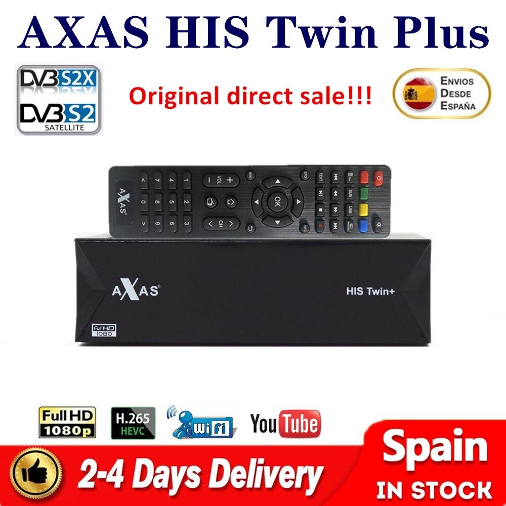Axas له التوأم زائد كامل HD استقبال الأقمار الصناعية DVB-S2/S التوأم المستقبلون لينكس E2 المفتوحة ATV 6.4 بناء في صندوق التلفزيون واي فاي دعم oscam ccam
