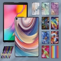 tablet case for samsung galaxy tab a 10 1 2019 t515t510 watercolor printed plastic protective back shell cover free stylus