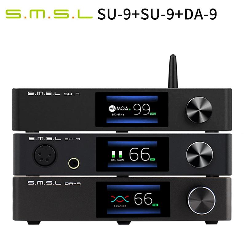 جديد SMSL SU-9 فك + SMSL SH-9 مضخم ضوت سماعات الأذن + SMSL DA-9 مكبر كهربائي SU9 SH9 DA9