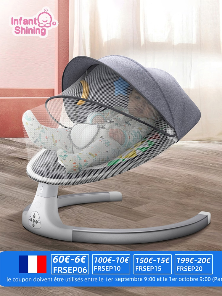 Baby Rocking Chair Smart Baby Swing Electric Infant Baby Cradle Crib Rocking Chair Baby Bouncer Newborn Remote Control Baby Crib
