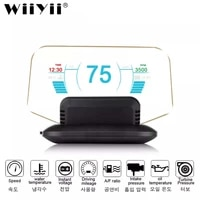 newest head up display obd2 hud mirror updated c1 optional navigation gps hud speed fuel consumption car speedometer projection