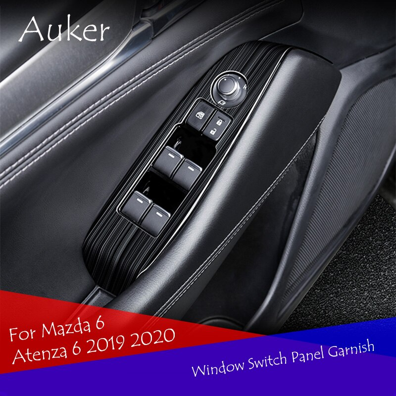 Window Switch Panel Adjust Cover Trim Stickers Strips Garnish Decoration Car Styling For Mazda 6 Atenza 6 2019 2020