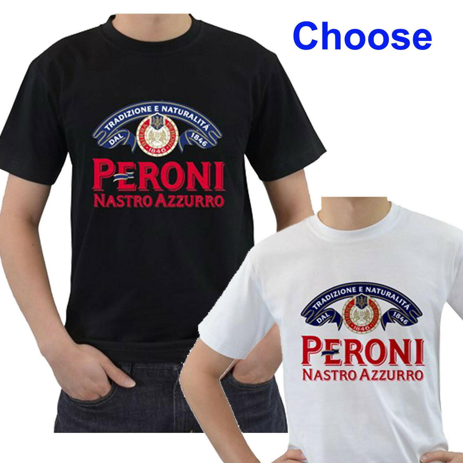 ¡Nuevo! Camiseta Unisex con Logo de Peroni Nastro Azzurro, cerveza italiana, blanco