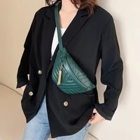 top brand rhombus women waist bag personality leather designer luxury chest bag lady shoulder bags crossbody fanny pack bag belt