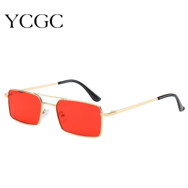 Small Square Sunglasses Women 2020 Alloy Metal Frame Clear Men's Sun Glasses Vintage Chic Female Sha