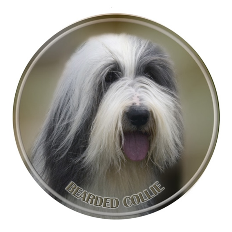S40308# Various Sizes PVC Decal Bearded Collie Car Sticker Waterproof For Bumper Rear Window Laptop Refrigerator Toilet