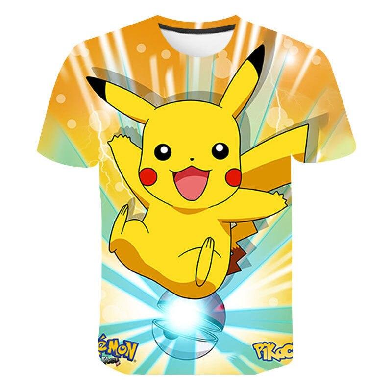 Pokemon Go Funny Cartoon T Shirt Men Unisex Kawaii Pikachu Print T-shirt Cute Japanese Anime Tshirt Hip Hop Summer Top Tees Male