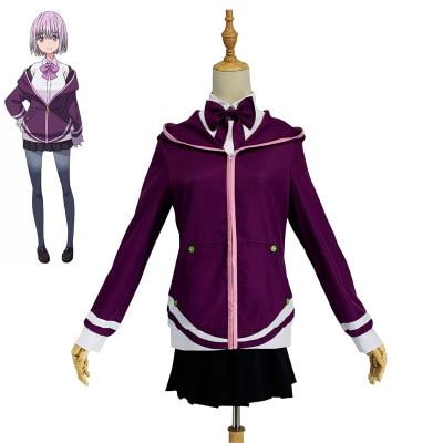 Alta calidad Anime electrónico superhumano Gridman Shinjo Akane otoño K uniforme escolar mujer Cosplay traje Camisa + abrigo