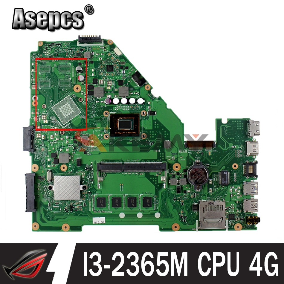 Akmey X550CC ل Asus X550CA R510C Y581C X550C X550CL اللوحة المحمول I3-2365M وحدة المعالجة المركزية 4G اختبار 100% العمل الأصلي اللوحة الرئيسية