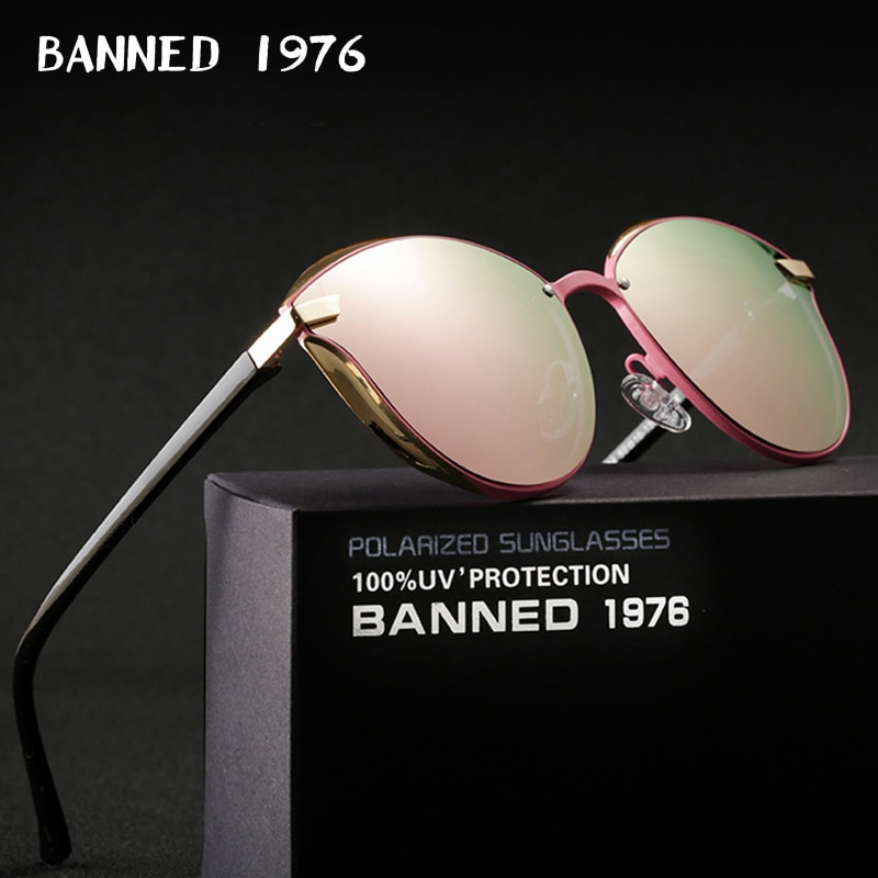 BANNED 1976 Luxury Women Sunglasses Fashion Round Ladies Vintage Retro Brand Designer Oversized Female Sun Glasses oculos gafas