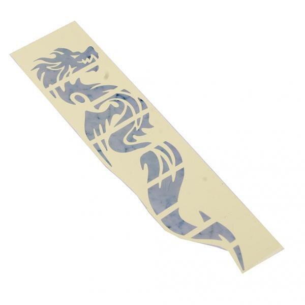 Dragón marcadores de trastes incrustaciones adhesivas calcomanías guitarra blanca plata