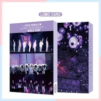 54pc kpop boys photocard album speak yourself self made paper card lighesboys with luv photo cards poster