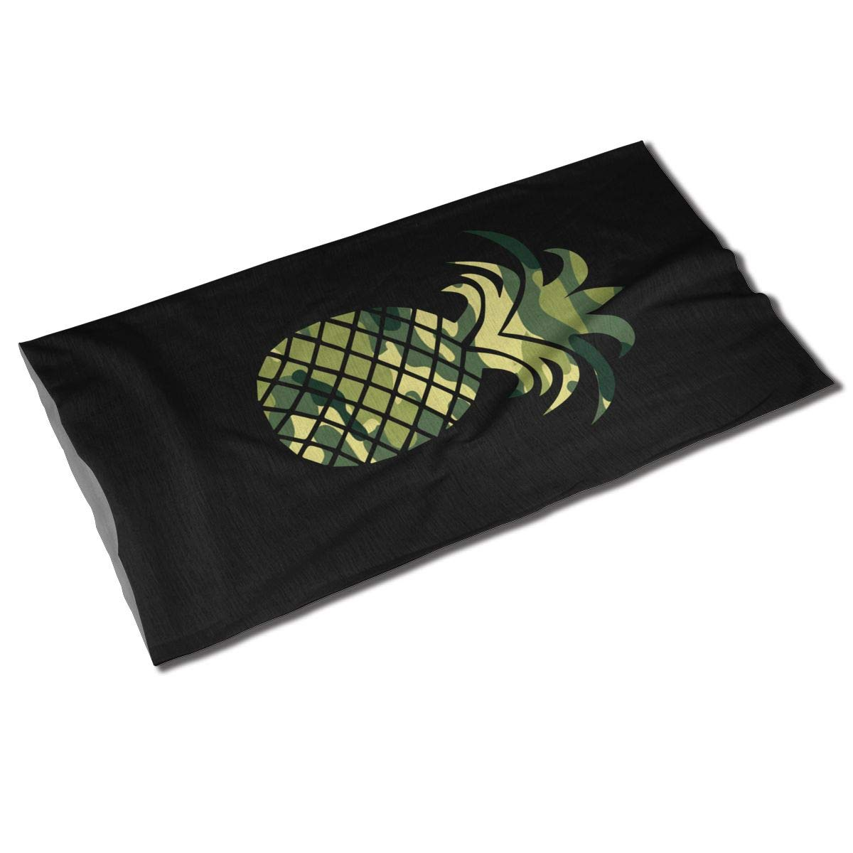 Diadema de camuflaje con forma de piña Unisex para exteriores, bufanda de deporte, banda para el cuello, banda para el pelo