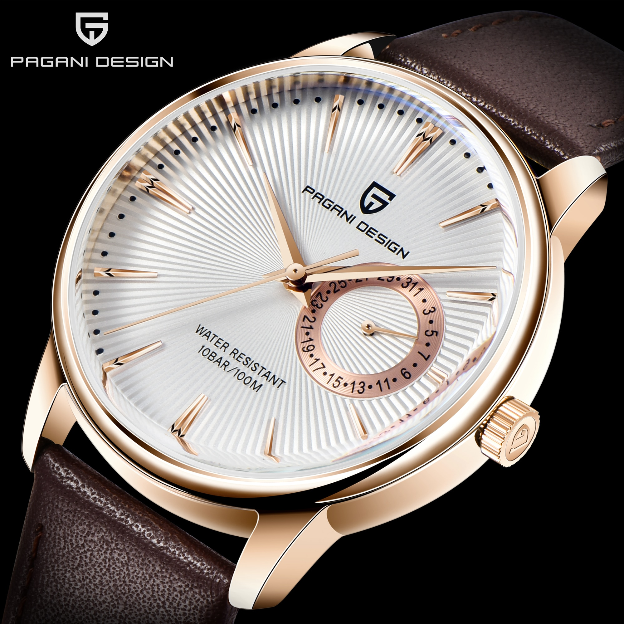 2021 PAGANI تصميم العلامة التجارية الفاخرة مقاوم للماء الرجال ساعة كوارتز موضة عادية ساعة رياضية الرجال العسكرية ساعة Relogio Masculino