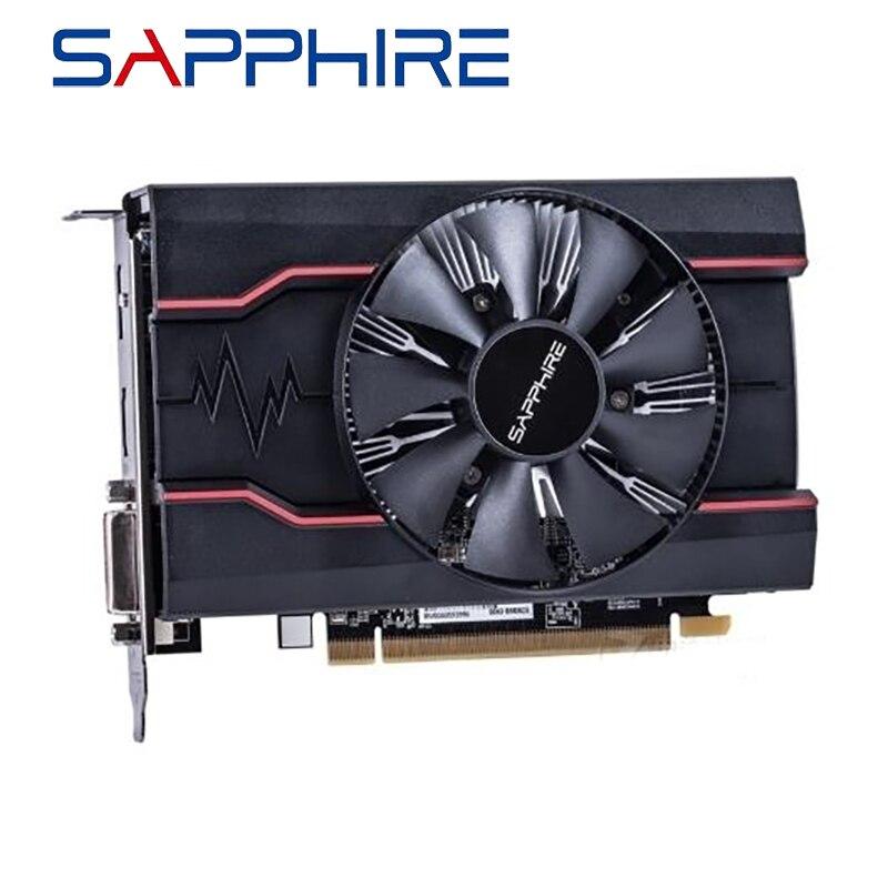 Safira rx550 4gb placas gráficas gpu para amd radeon rx 550 gddr5 128bit placas de vídeo desktop computador computador original usado