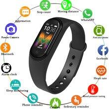 SAKZNR montre intelligente M5 avec caméra Bluetooth montre jouer de la musique montre-bracelet Fitness activité Tracker Sport montre pour IOS Android