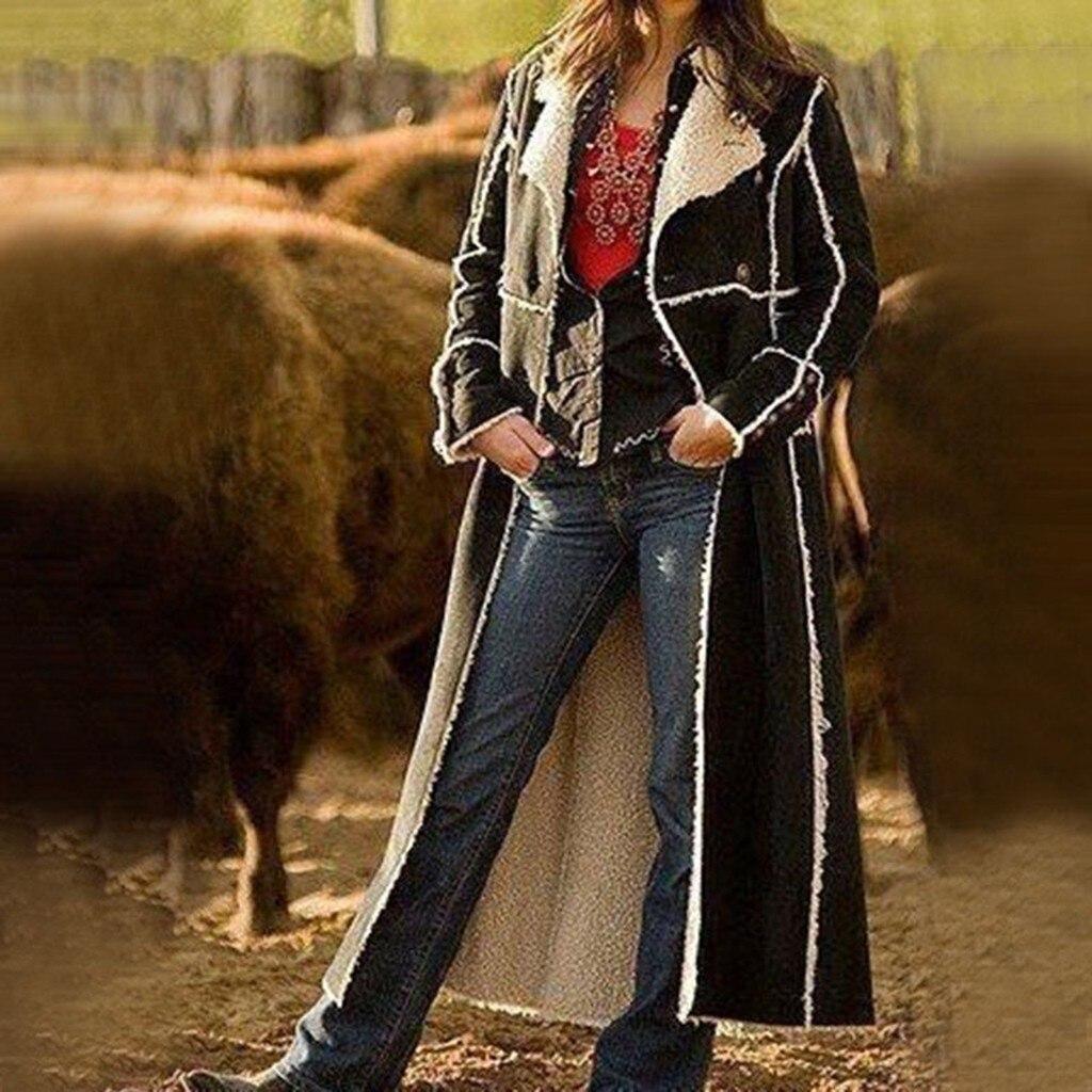 SAGACE 2020 marca de moda Retro larga trinchera abrigo de Otoño de 2020/Casual de otoño doble botonadura Simple clásico abrigo de manga larga