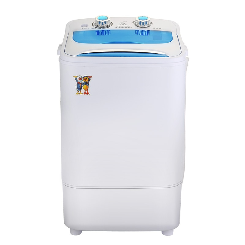 Duckling marca bebê semiautomático único cilindro mini máquina de lavar roupa azul luz elution uma grande capacidade