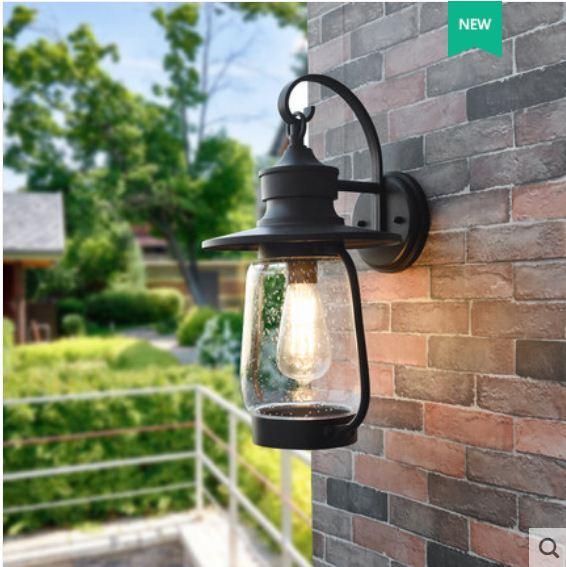 Chinese style lantern wall lamp outdoor waterproof rust-proof garden lamp balcony corridor aisle retro villa wall lamp enlarge