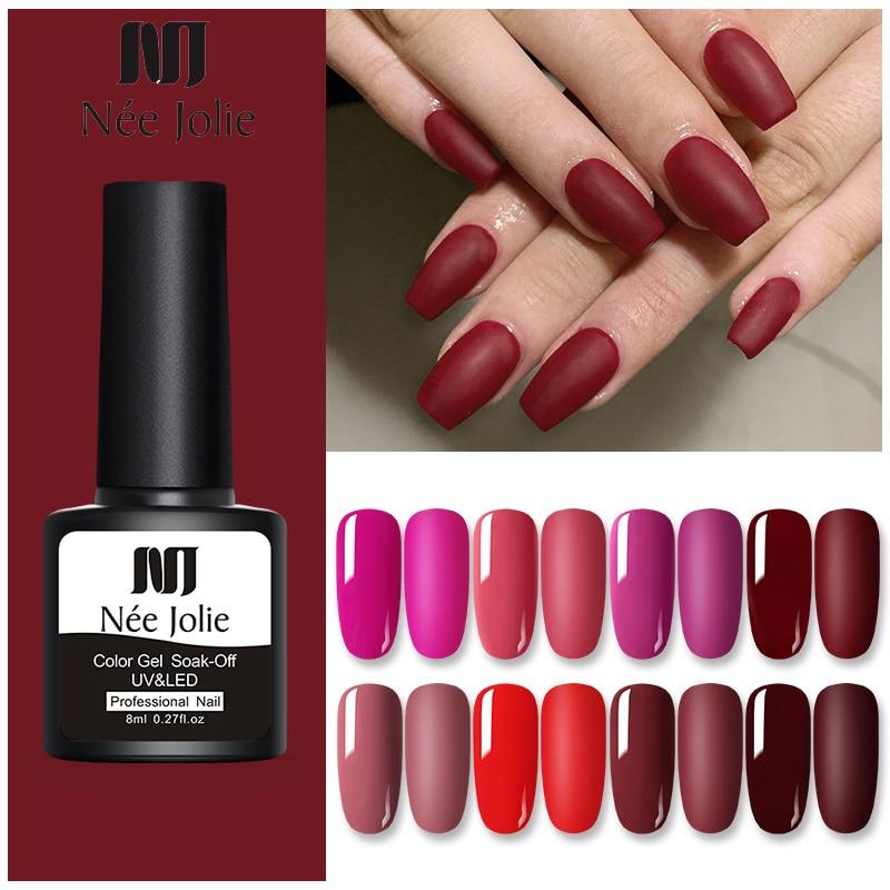 Nee Jolie 8ml UV Gel Nail Polish Fall And Winter Colors Nail Gel Soak Off LED Gel varnish Varnish Nail Art DIY Design