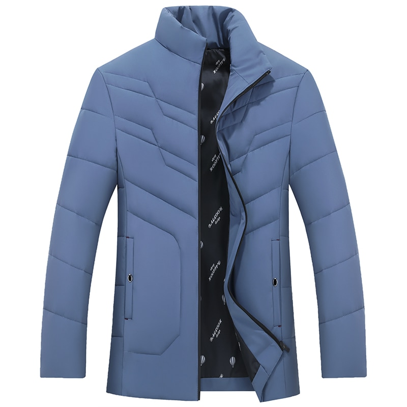 Мужская теплая водонепроницаемая куртка, Повседневная теплая куртка, парка, пальто, новая осенняя верхняя одежда, ветрозащитная парка с кап...