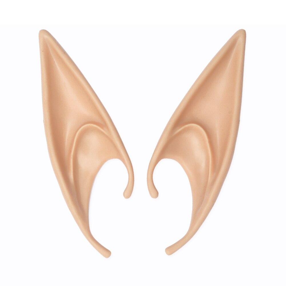 1 par de disfraces de cosplay con orejas de elfo de Anime de látex para Halloween suministros para fiesta en casa