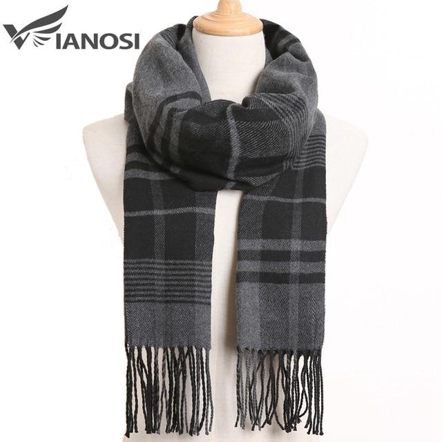 [VIANOSI] 2020 Luxury Design Men Scarf Foulard Plaid Scarves Poncho Casual Winter Scarfs Male Bufandas Hombre