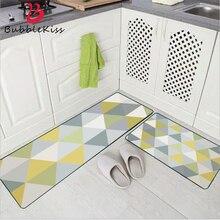 Dywan dywaniki do sypialni do salonu styl skandynawski geometryczna moda niebieska zielona mata kuchenna mata wejściowa dywaniki antypoślizgowe slipmata