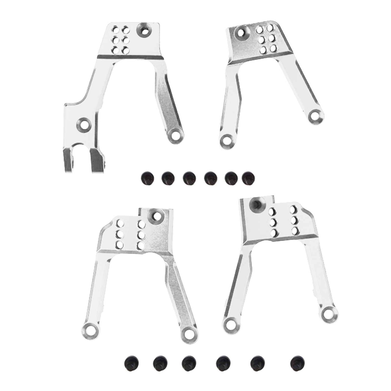 4x RC Aluminum Shock Damper Tower Mount Hoops for SCX10 II 90046 90047 Car Replacement Parts enlarge