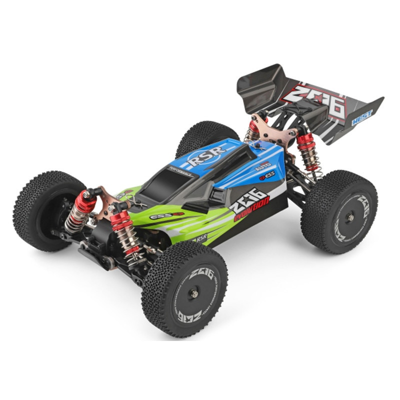 LazyChild WLtoys 2.4G Racing RC Car Competition Metal Chassis Electric RC Formula Car Remote Control Toys For Children enlarge