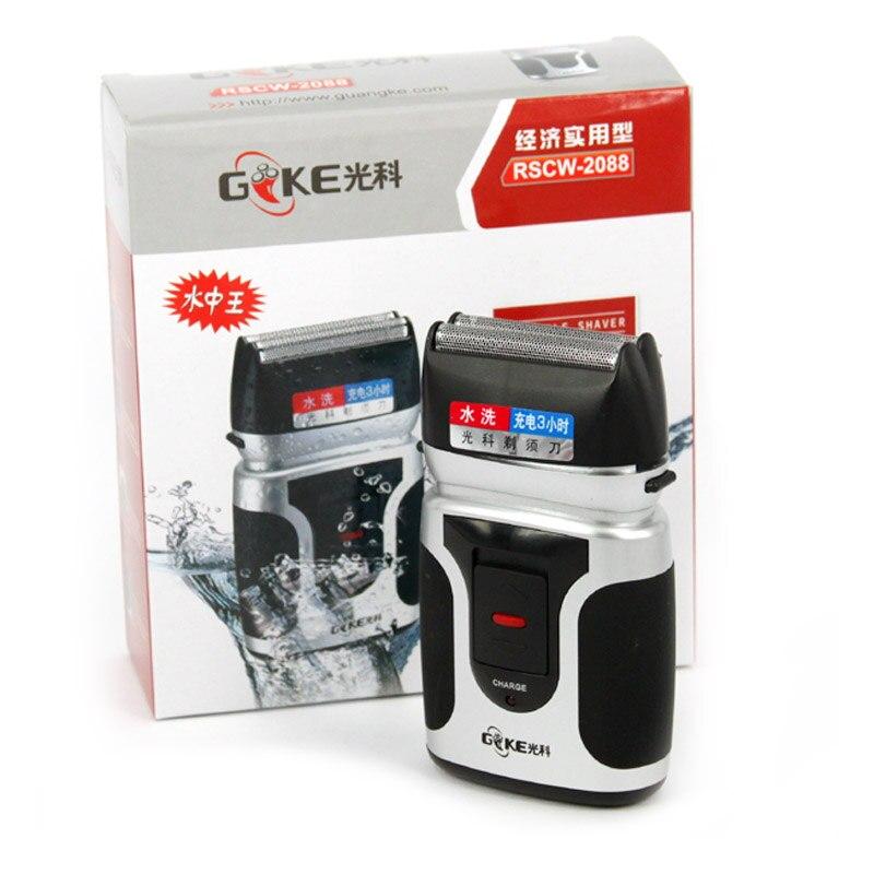 GONCON RSCW-2088 Afeitadora eléctrica de doble hoja, recargable, carga rápida, maquinilla de afeitar impermeable para el cuidado facial de los hombres