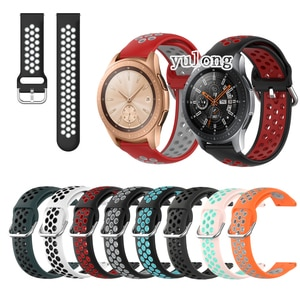 20mm 22mm Sport Silicone Breathable Strap For Samsung Galaxy Watch 42mm 46mm Smart Watch Wristband