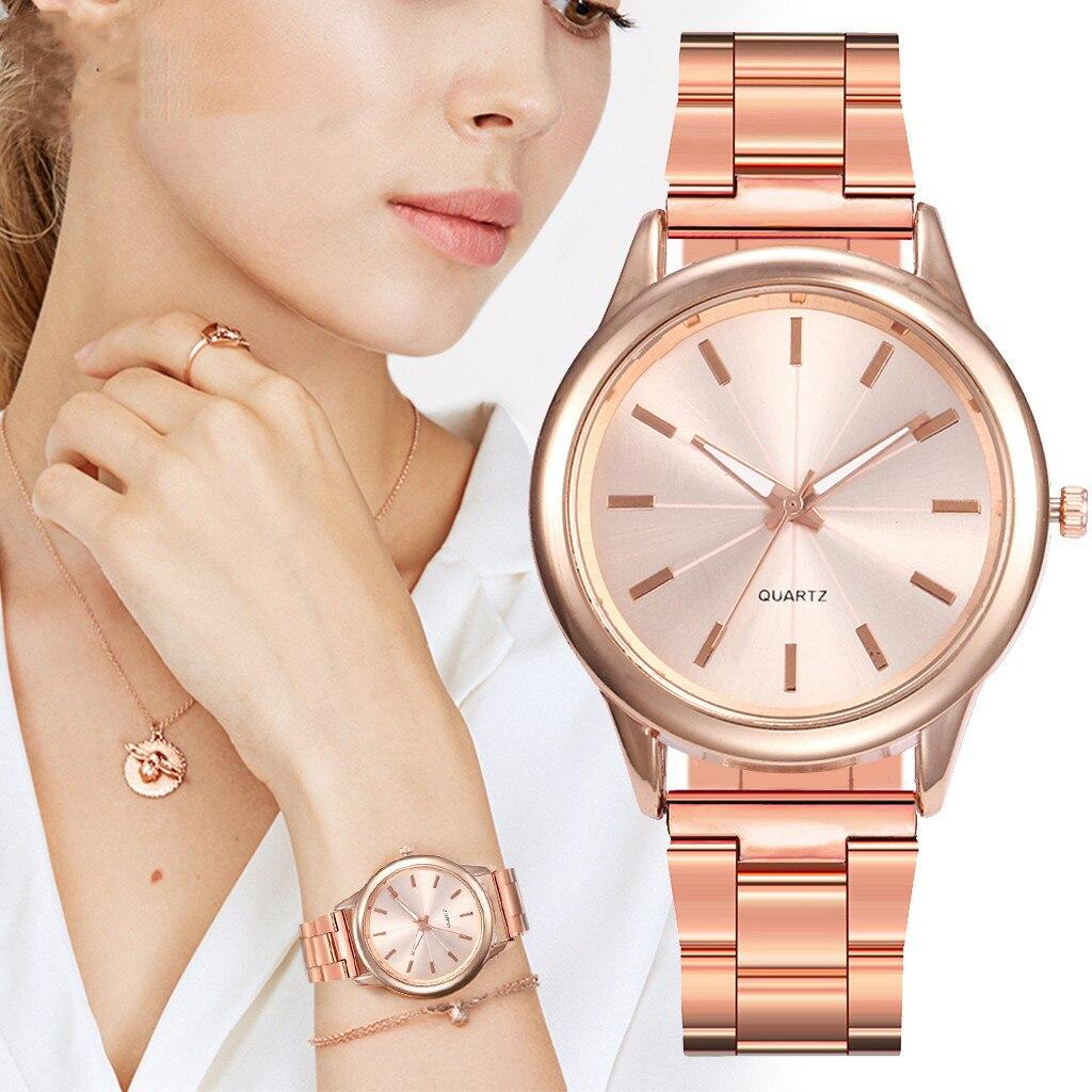 Watches Women Top Brand Luxury Business Quartz Wrist watch Rose Gold Distinguished Women Simple Watc