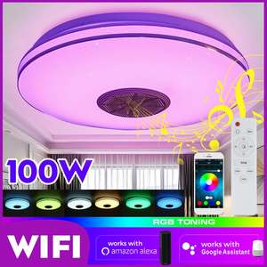 100W WiFi APP Intelligent Control RGB Dimming LED Ceiling Light bluetooth Music Light Surface Mount Ceiling Lamp Home Lighting