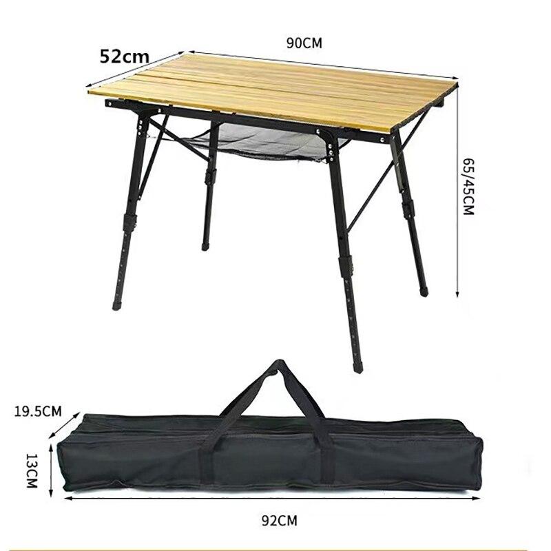 Mesa plegable para acampar al aire libre mueble de escritorio de aluminio...