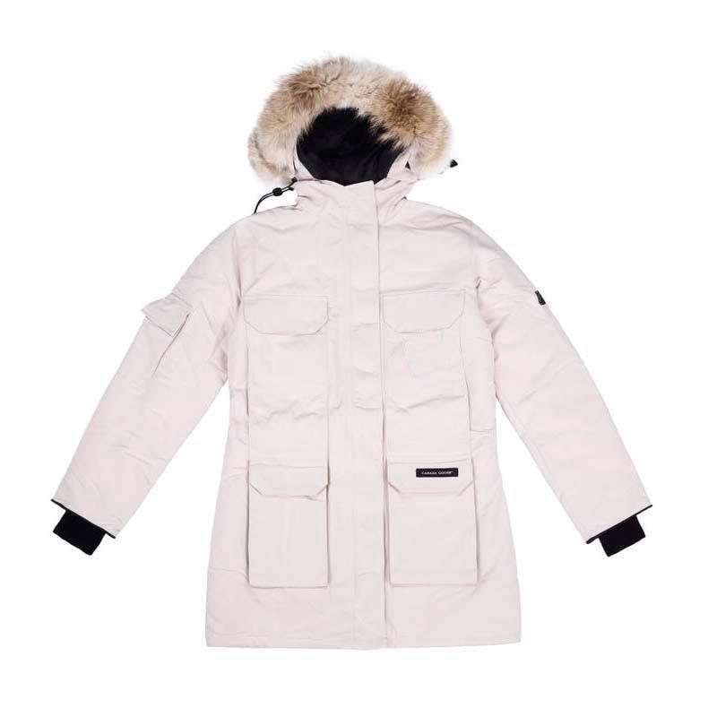 Женская зимняя Классическая парка с воротником из меха волка, Канадское приключение, пуховая куртка, водонепроницаемая и ветрозащитная ули...