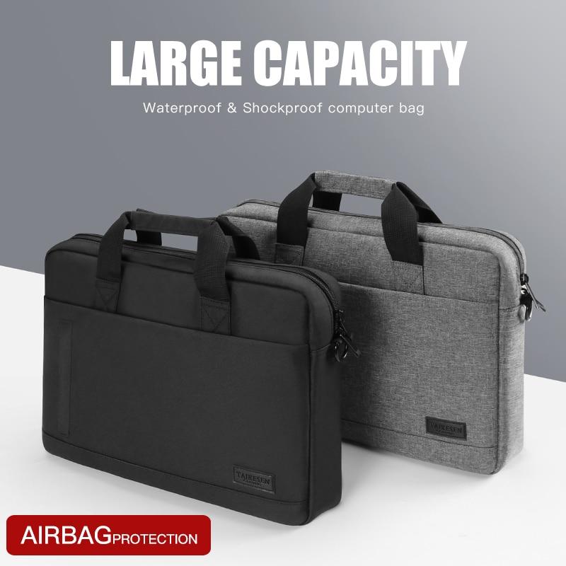 Laptop bag Sleeve Case Protective Shoulder handBag Notebook Briefcases For 13 14 15.6 inch Macbook Air HP Lenovo Dell Top-Handle
