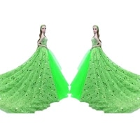 11 5 doll dresses off shoulder sequin wedding gown for barbie princess dress 16 bjd clothes gown outfits playhouse accessories